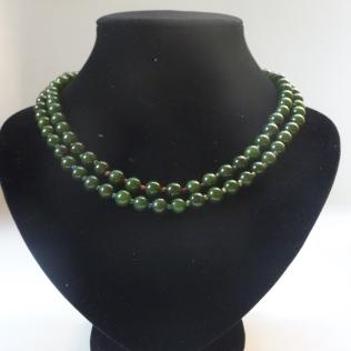 Sautoir à noeuds, jade