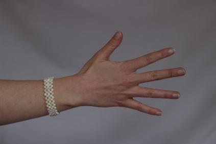 Bracelet Résille nacres et facettes