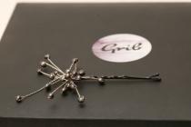 Epingle-bijou perles d'eau douce noires