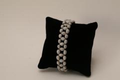 Bracelet petites Larme de Job gris perle et argent