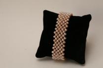 bracelet résille perles d'eau douce roses
