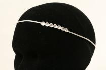 Headband de mariée, strass Swarovski