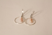 boucles d'oreilles perles de culture roses et argent