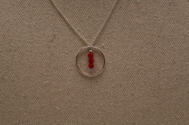 Collier Cercle corail bambou rouge