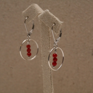 BO cercle corail bambou rouge