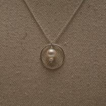 Collier Cercle perle d'eau douce blanche
