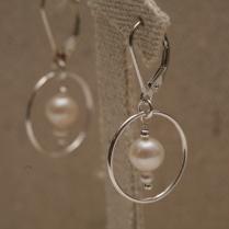 BO Cercle perle d'eau douce blanche