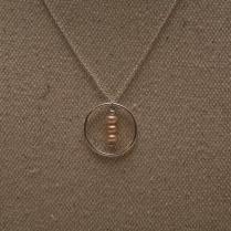 Collier cercle perles d'eau douce rose