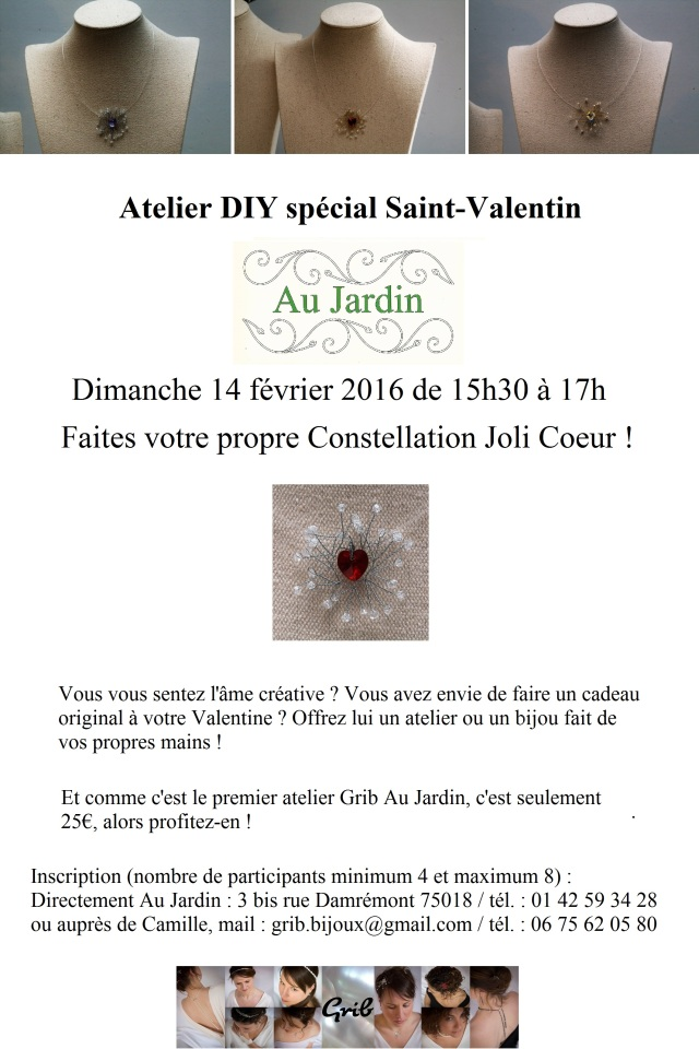 Affiche Atelier DIY Constellation Joli Coeur